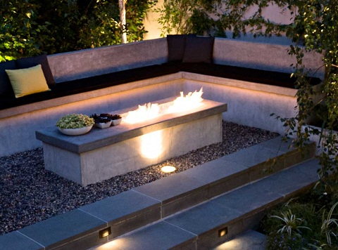Turn up the heat in your patio or yard for Modern fire pit ideas