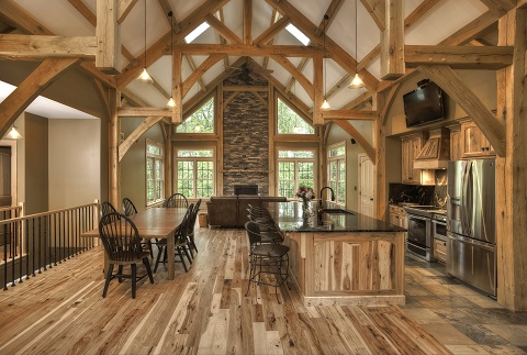 Landon Homes Custom Homes A Wood Lovers Dream