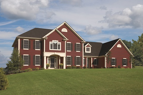 Vinyl Siding_VSI Provided_Bright Red Vinyl Siding