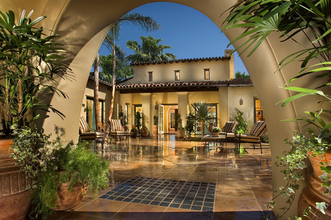 Outdoor Room Lennar Claybuorne at the Lakes Rancho Santa Fe CA