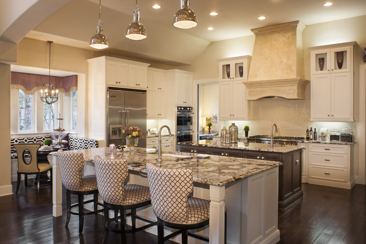 Home of the week residence 7545 plan by century communities for Model home kitchens