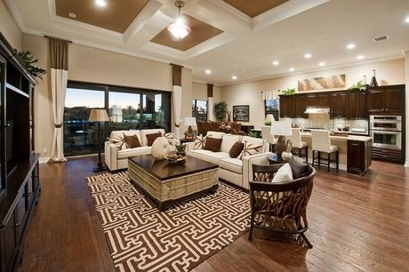 Living Room With Large Open Concept Floor Plans Trend